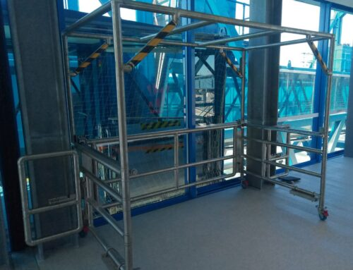 Elevated Walkway to Passenger Boarding Bridge Edge Protection Barrier